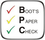 Boot`s Paper Check (BPC)